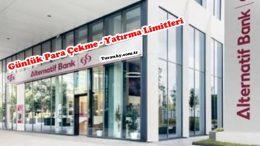 Alternatifbank ATM Günlük Para Çekme ve Yatırma Limitleri