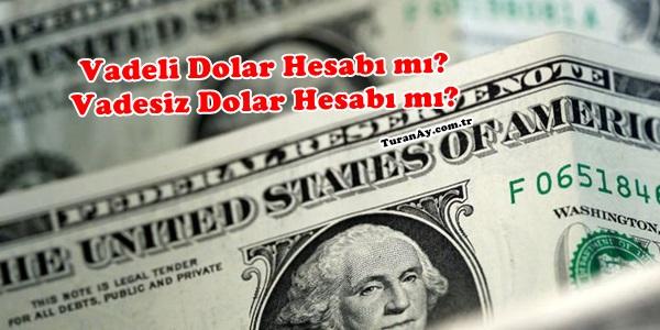 Vadeli Dolar Hesabı Mı Vadesiz Dolar Hesabı Mı Güncel Bankacılık